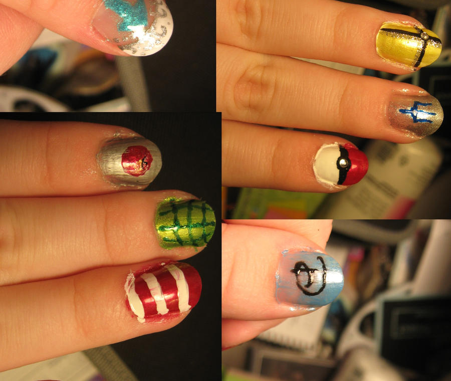 Nerd Nails by Azarahael-Morganti on DeviantArt