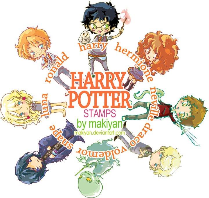 harry potter stamps :: by makiyan