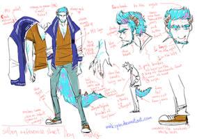 MU human Sulley reference sheet by makiyan