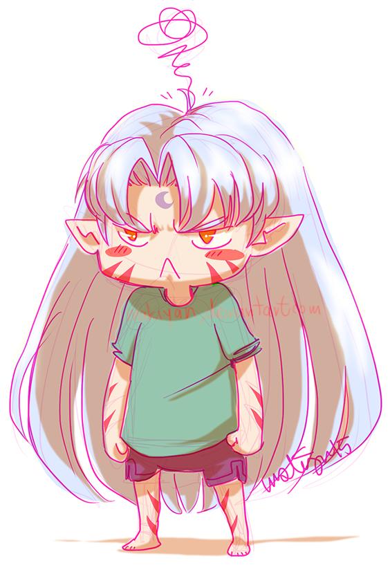 sesshoumaru is angry :: by makiyan