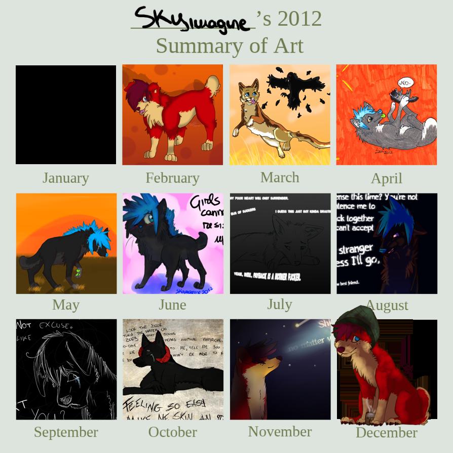 .Skyimagine's 2012 Art Summary by Squishy-Pirate-Mutt