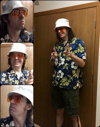 Hunter S. Thompson cosplay by NeuronPlectrum