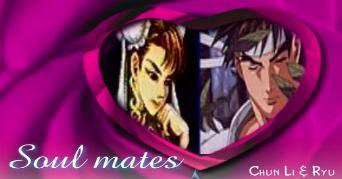 Chun-Li and Ryu Valentine Heart by ShinigamiSenshi