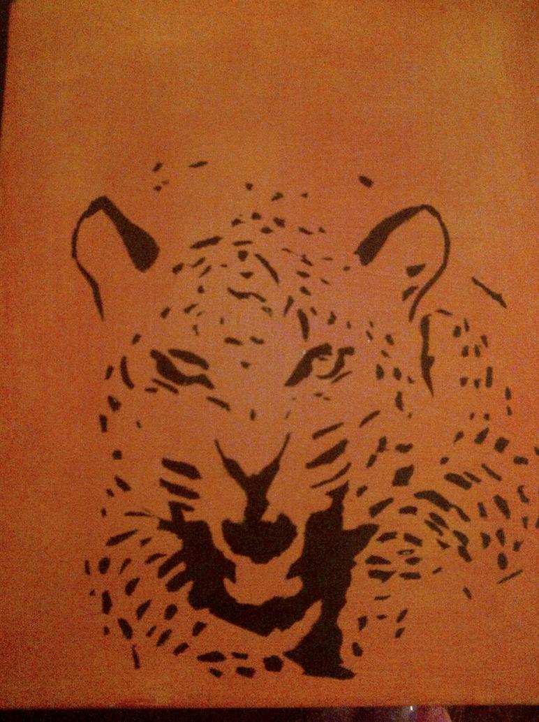Crocodile Skin Cake Side or Wall Stencil