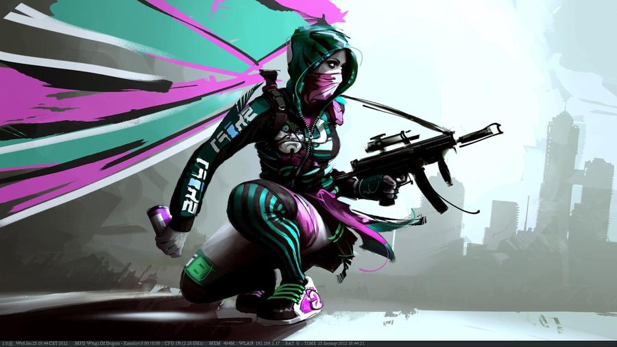 Scrotwm cyberpunk by genessis
