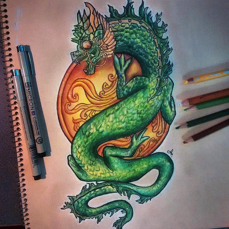 Dragon's Jade Wall by luxxlo