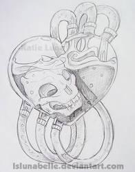 Skull Heart design