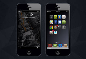 Iphone 5 - The City lockscreen