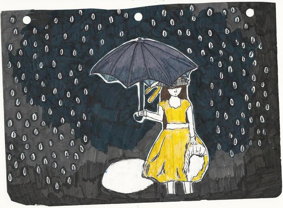 In the rain. by nicrolikespie