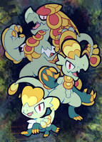 jangmo-o and co by extyrannomon
