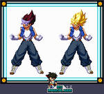 Extreme Butoden - Vegetrunks by Mangal666