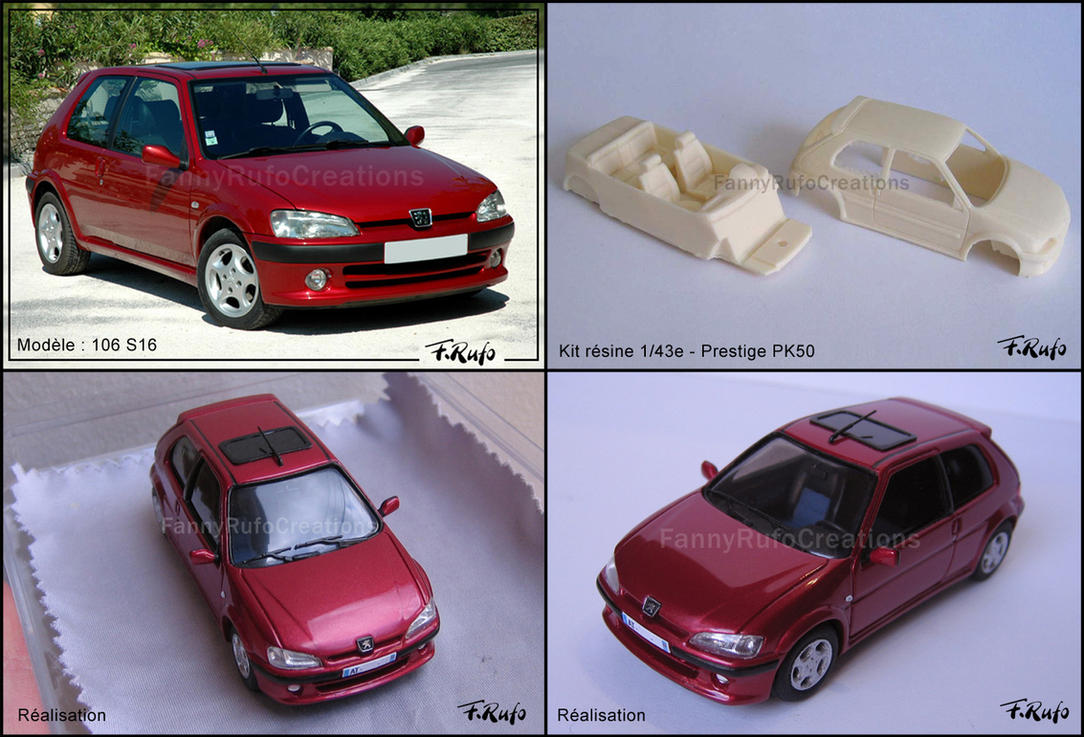 Peugeot 106 S16 - Model Car 1:43 by FanouLouloute on DeviantArt