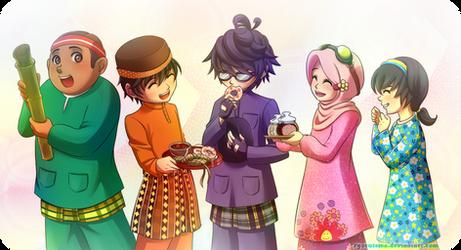 Happy Eid ul-Fitr by ryocutema