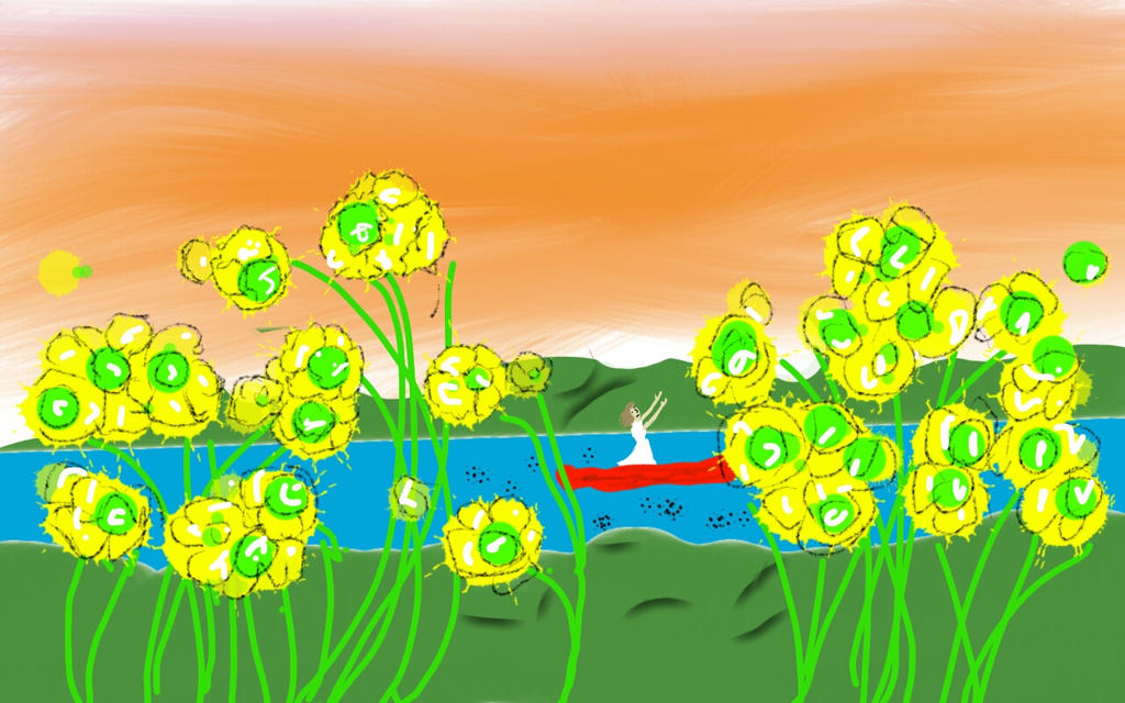 Cellophane Flowers Of Yellow And Green By Lynssc On Deviantart