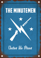Fallout 4 Minutemen Tin Sign by Saintsational8