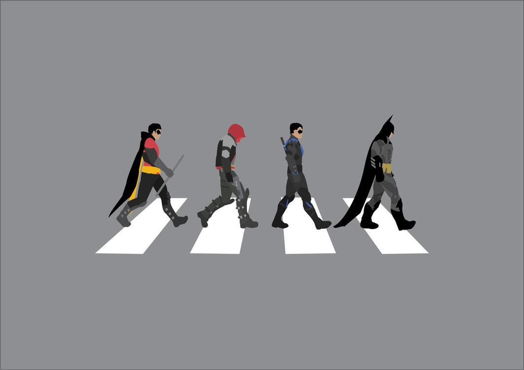 Minimalist Batman Abbey Road By Saintsational8