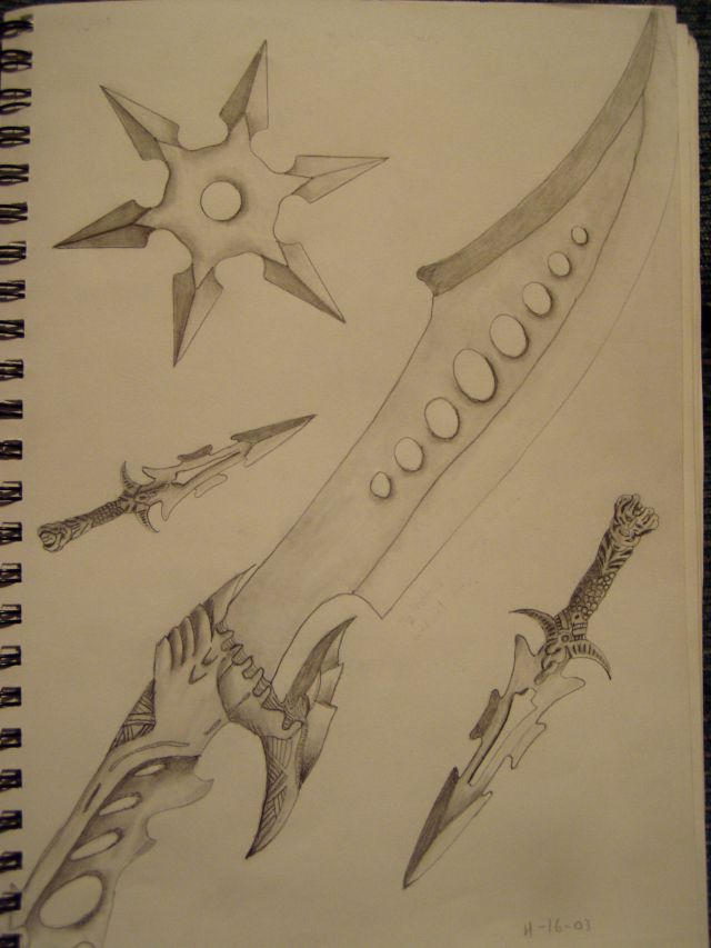 Random Weapon Drawings by slayer720 on DeviantArt