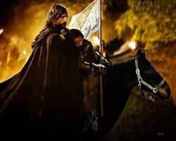 Arya and the Hound by JezyCarole