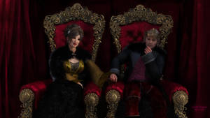 Le roi Floran et la reine Jade des roseraies