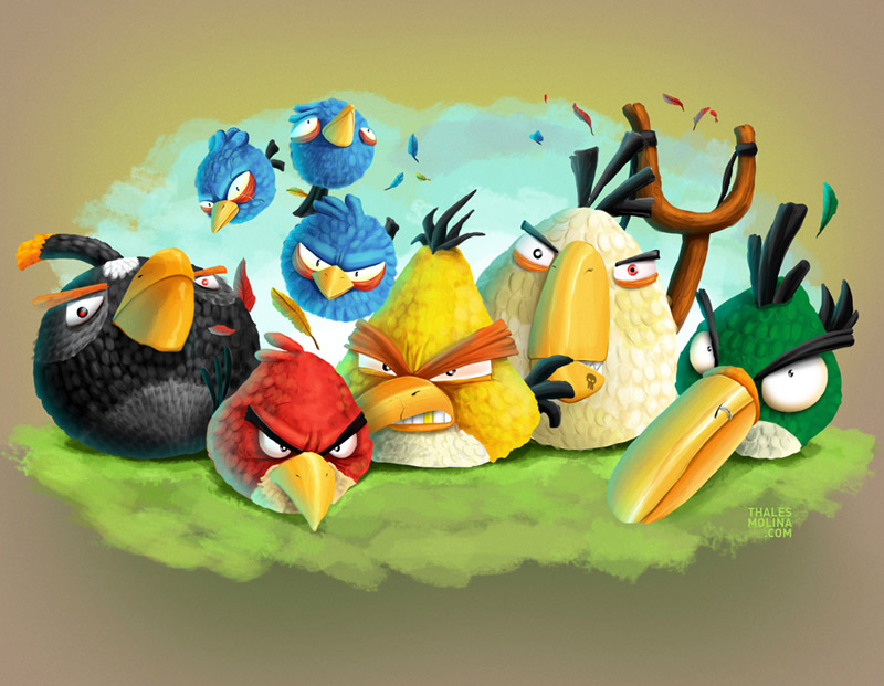Angry Birds by thalesmolina