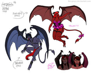 Concept - Demons (Incubi and Succubi) by The-Greys