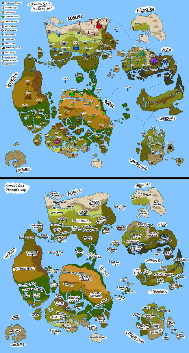 Looming Gaia Map 2019 (color)