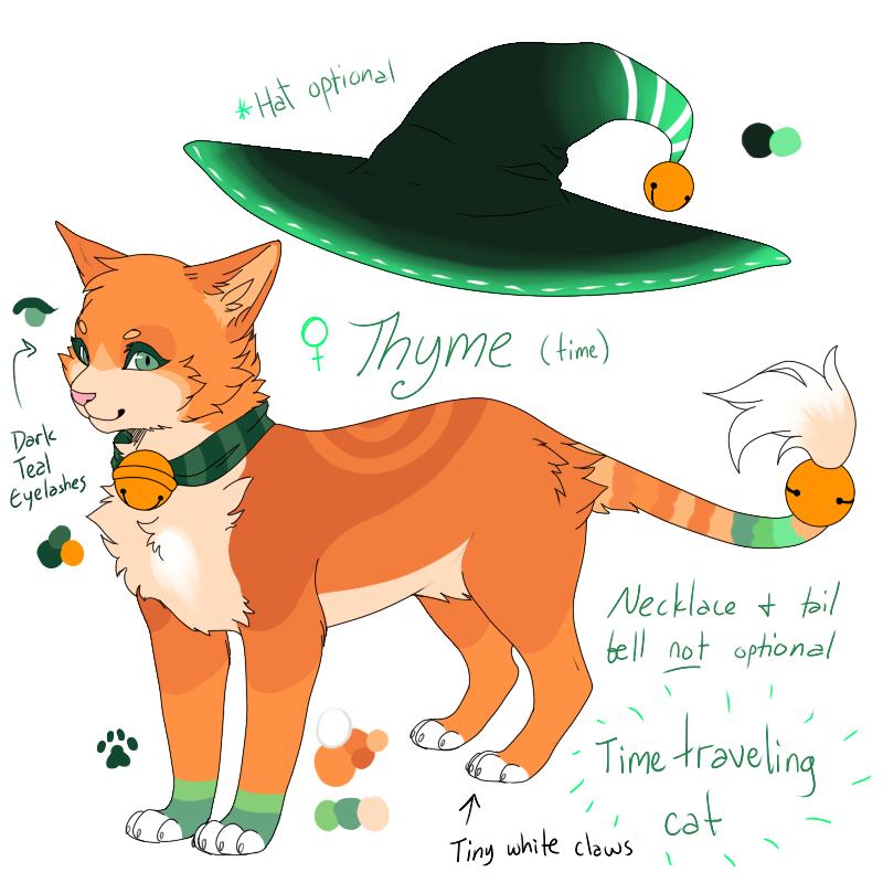 Thyme - ref sheet by MistyMochi