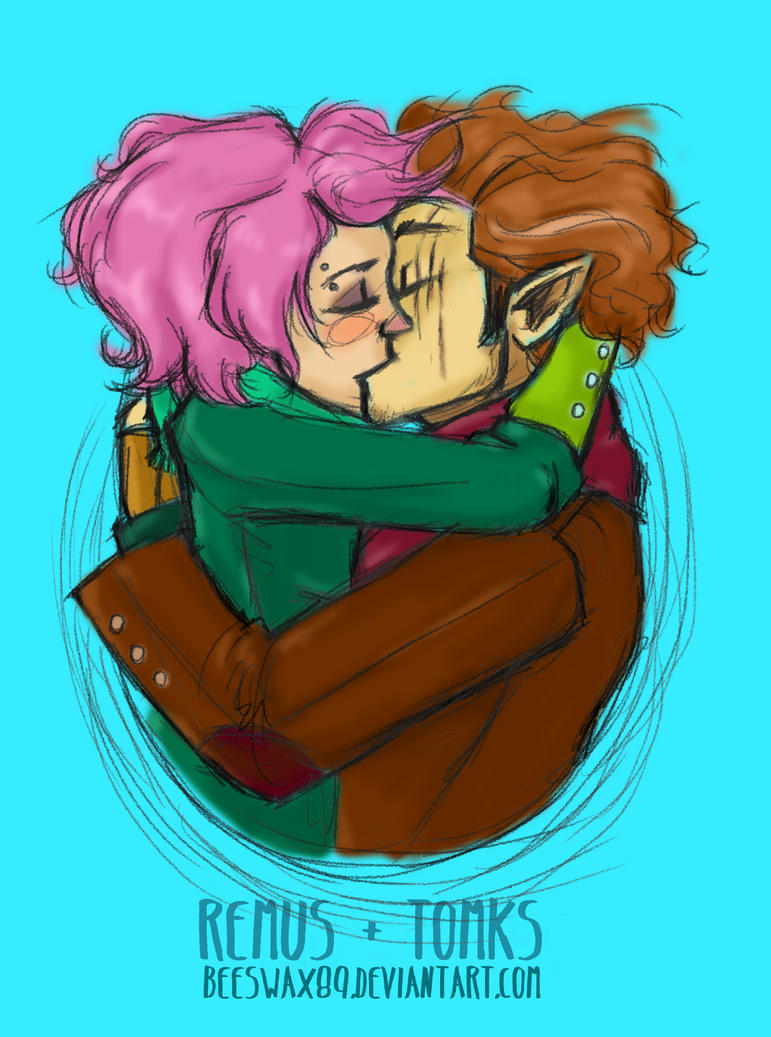 Remus And Tonks by sawebee