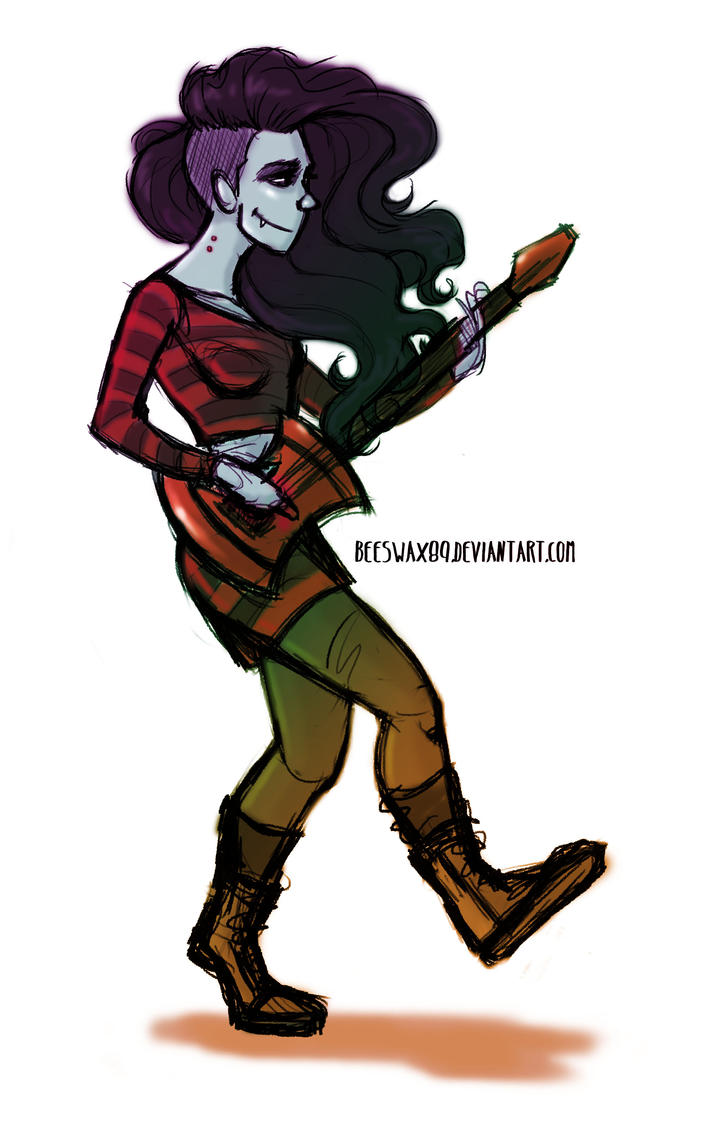 Marceline the Vampire Queen by sawebee