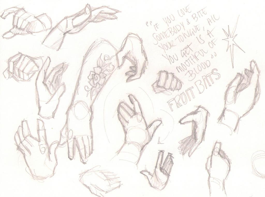 Hand Studies by sawebee