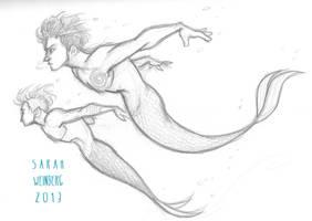 Swim by sawebee