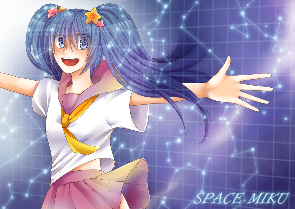 SPACE MIKU by CardLaguz