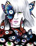 the fluttering of butterflies