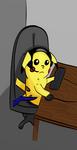 Working Pikachu by AlbieTheFloof