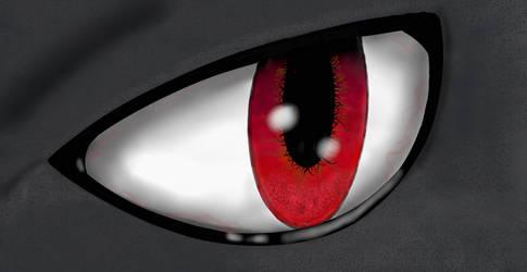Lucario Eye by AlbieTheFloof