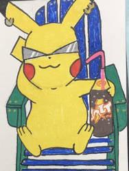 Lounging Pikachu