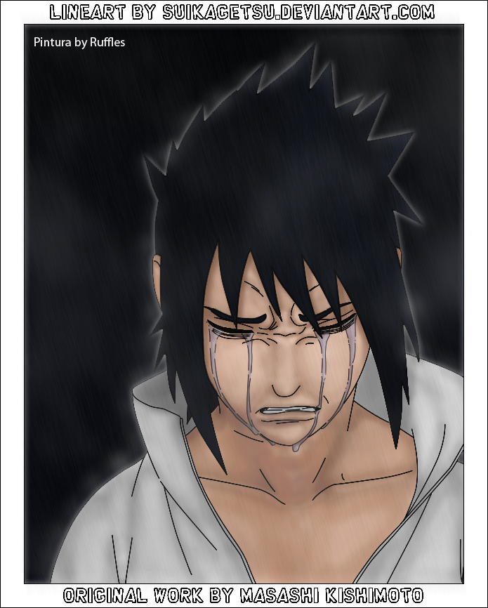 Sasuke Crying Blood Sasuke Crying by raffl...