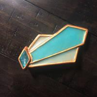 art deco comet brooch