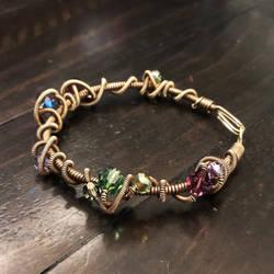 antique brass doodle bracelet