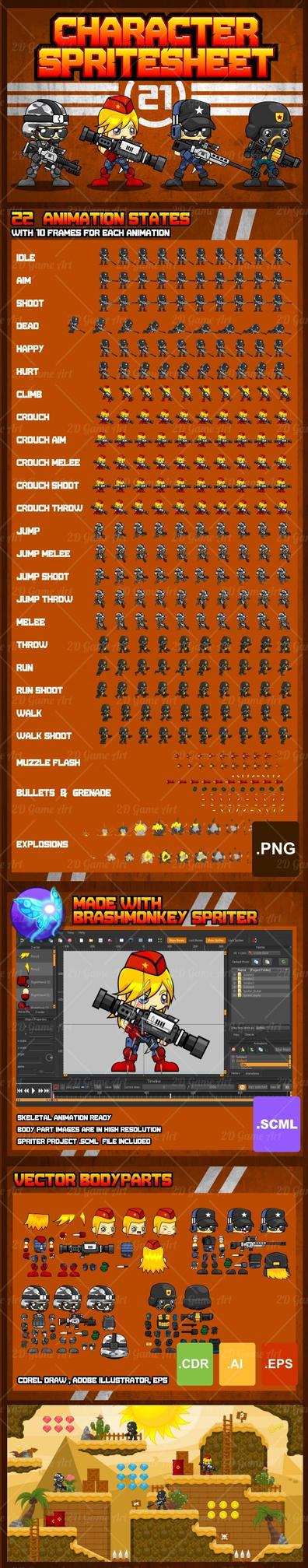 Advanced Soldier - Game Sprites by pzUH on DeviantArt