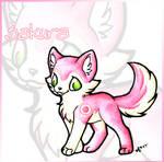 Chibi Sakura Wolf