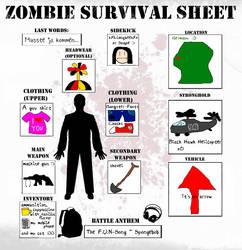 My Zombie Survival Sheet by LeenKiburi