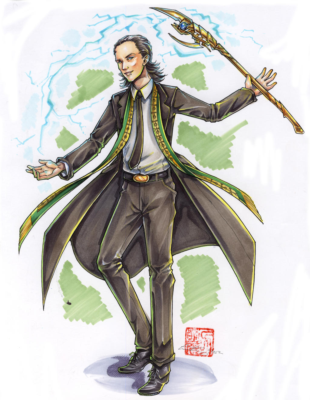 Fanart Commission - Dapper Loki by fictograph