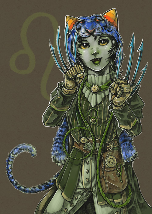 Fanart - SkyPirate!Stuck Nepeta by fictograph