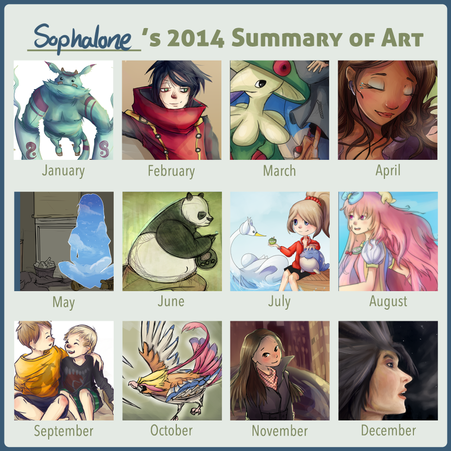 2014 Art Summary by Sophalone