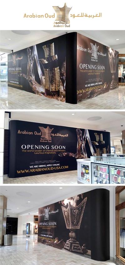 Arabian Oud store barricade by savianty