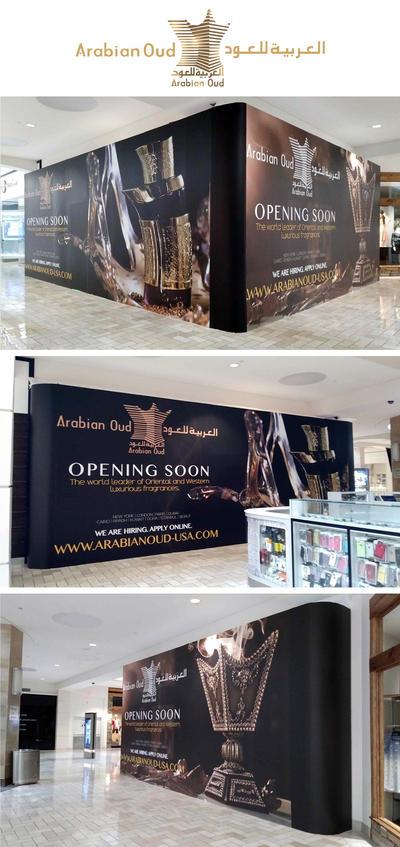 Arabian Oud store barricade