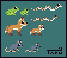 Tiny pixel animals