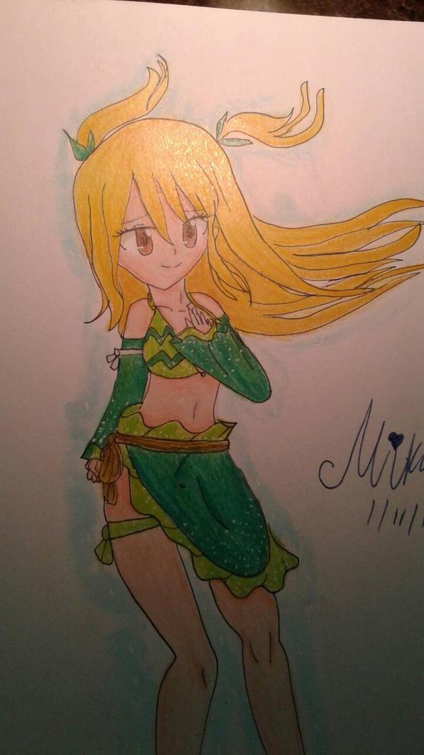 Lucy Heartfilia Aquarius form by Miku1019 on DeviantArt