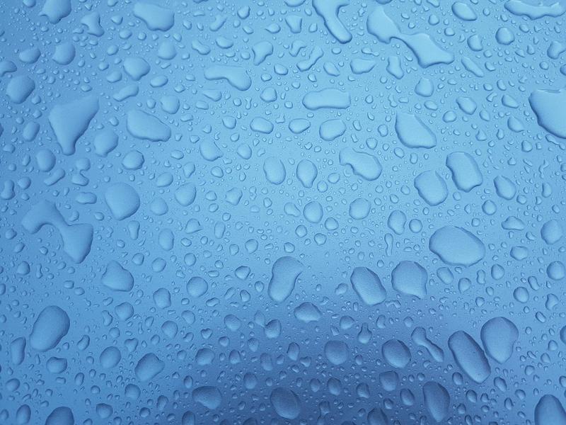 Rain Drops Blue by RobyOny